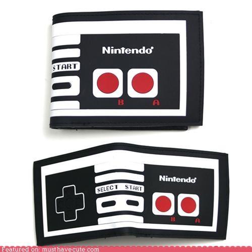 controller,fold,nintendo,wallet