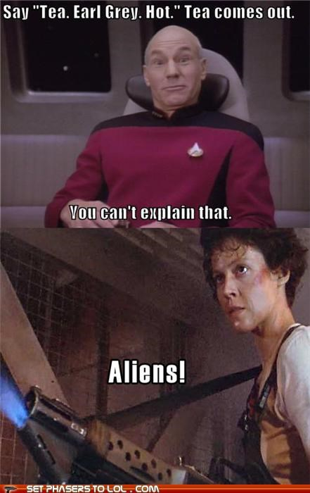 Aliens Ellen Ripley jean-luc picard patrick stewart sigourney weaver Star Trek - 5422189312
