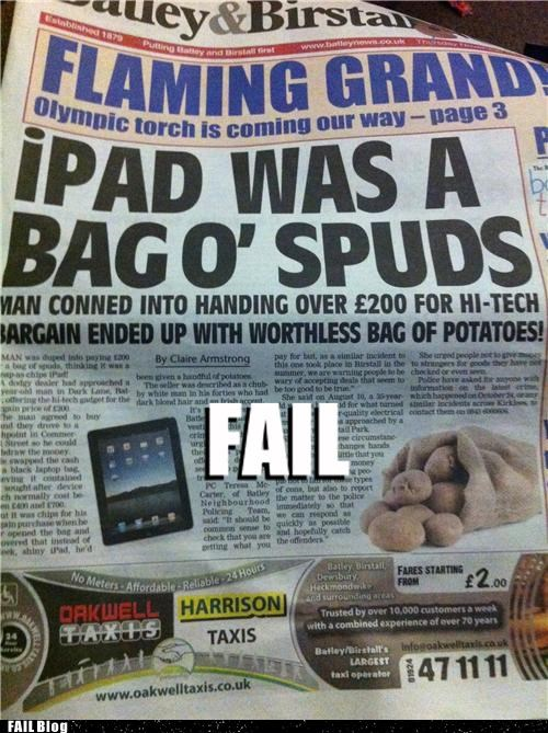 craigslist ipad Probably bad News stupidity - 5422287104