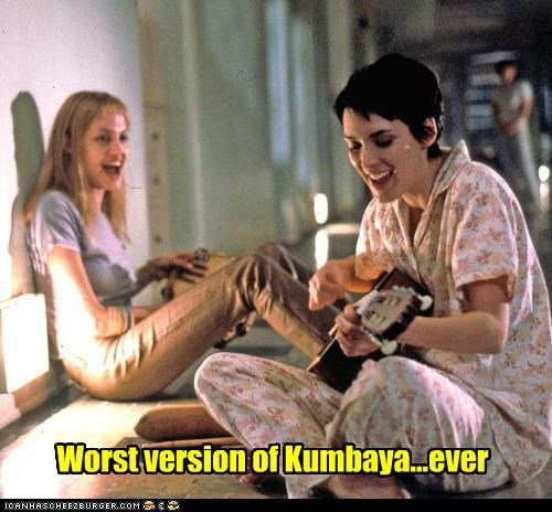 Angelina Jolie girl interrupted guitars kumbaya singing Songs winona ryder worst - 5422449408