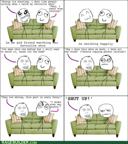 Annoying Childhood Friend,Rage Comics,talking,tv show