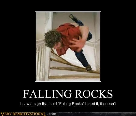 awesome falling idiots rocks