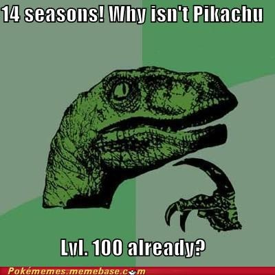 14 seasons level 100 meme Memes philosoraptor pikachu so long - 5422527488