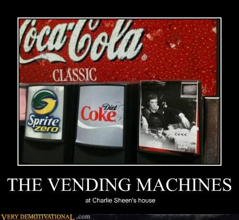 Charlie Sheen,hilarious,vending machine,white pony