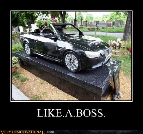 car,gravestone,hilarious,Like a Boss