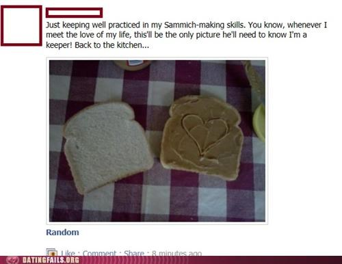 facebook,heart,kitchen,sandwich,We Are Dating