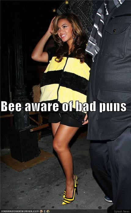 bad puns,bee,bees,beware,beyoncé,costume,halloween,puns