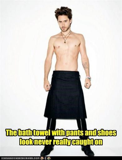 fashion jared leto shirtless towels wtf - 5423026944