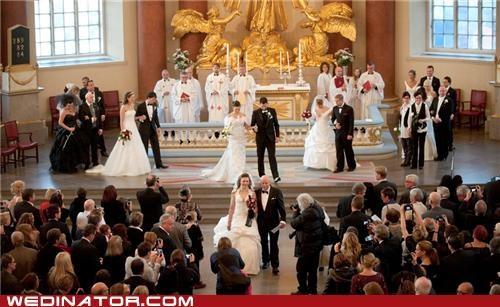 11-11-11 funny wedding photos mass wedding november 11 Sweden - 5423076864