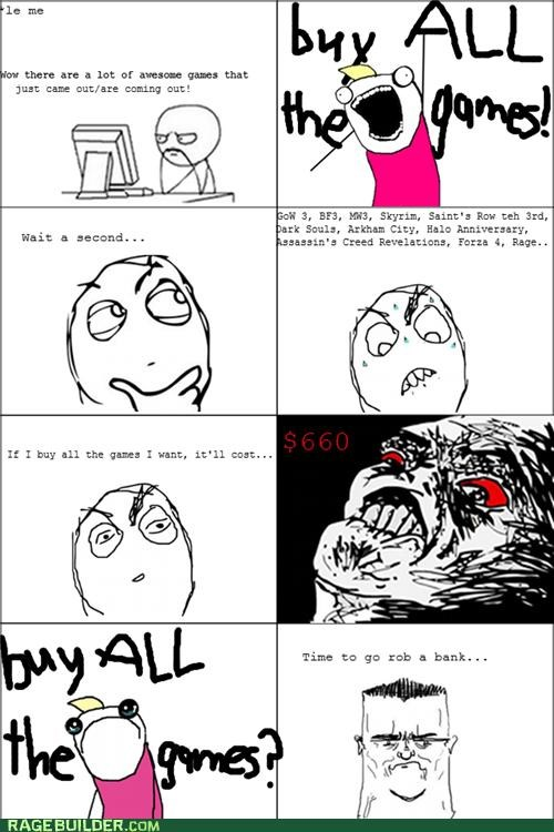 all the things,Rage Comics,Sad,video games