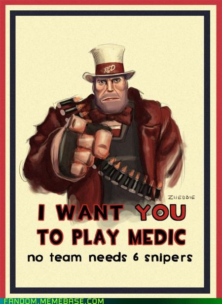 best of week Fan Art heavy medic sniper Team Fortress 2 TF2 Uncle Sam video game - 5423112960