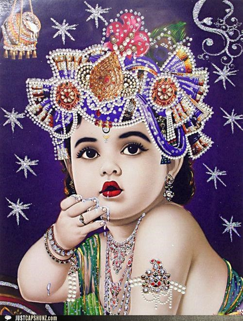 art,baby,caption contest,child,indian art,Jewelry,spoiled rotten brat