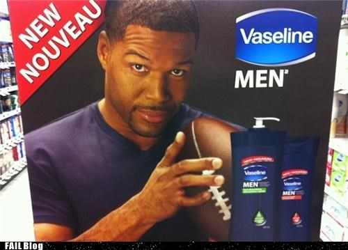 Ad,fingers,football,gross,mangled,michael strahan,nfl,sports,vaseline