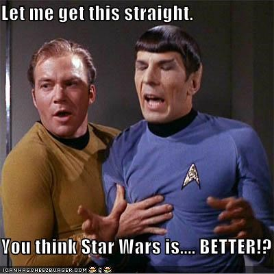 better,Leonard Nimoy,let,Star Trek,William Shatner