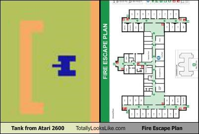 atari,fire escape plan,funny,game,tank,TLL