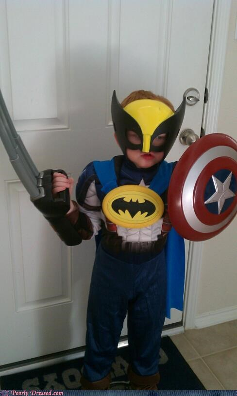 awesome kids,batman,captain america,superheroes,wolverine