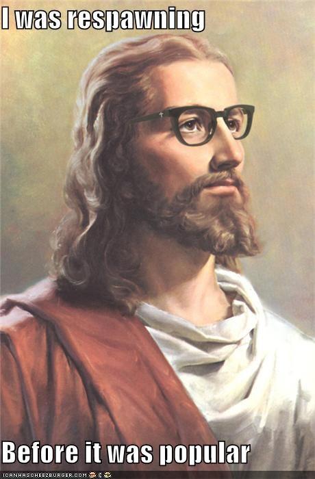 glasses hipster hipster jesus hipster scum jesus respawn respawning resurrect resurrection - 5423849728