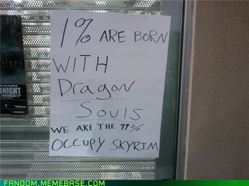 best of week dragons It Came From the Interwebz Occupy Wall Street Skyrim - 5423858688