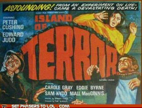 best classic island movies peter cushing science fiction terrible terror