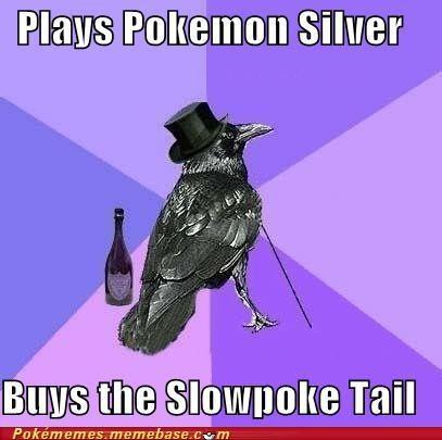meme Memes Rich Raven slowpoke tail soul silver - 5423925760