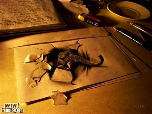 3d,art,dali,drawing,illusion,pencil,photography,sketch