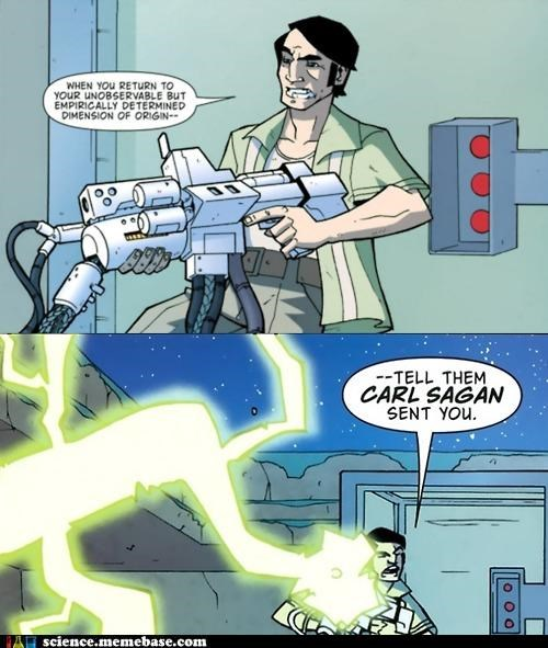 Atomic Robo,carl sagan,comic book,happy birthday,Professors