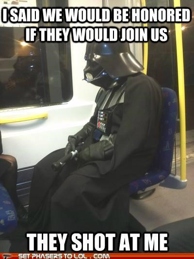 bus,Cloud City,darth vader,honor,meme,Sad,shot,star wars