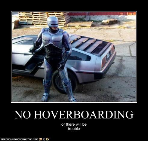 back to the future DeLorean hoverboard robocop trouble - 5424458752