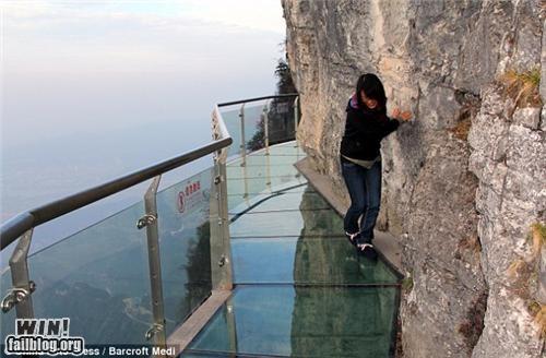 bridge cliff glass scary vertigo walkway - 5424536320