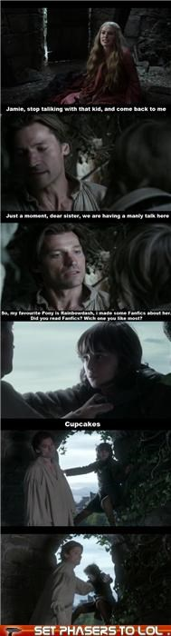 Bronies,cersei lannister,Game of Thrones,jaime lannister,lena headey,my little pony,nikolaj coster-waldau