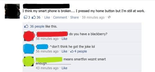 blackberry,facebook,home button,pun,smart phone,smartphone,work