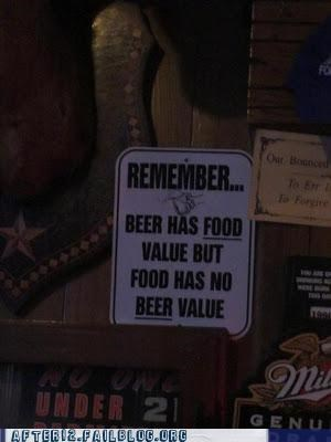 beer,diet,drinking,food,nutrition,sign,value,Words Of Wisdom