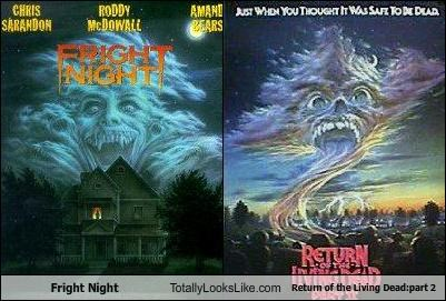 fright night funny Movie night of the living dead poster TLL