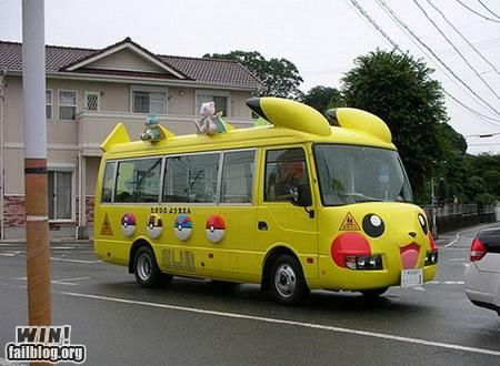 bus,nerdgasm,nintendo,oh Japan,pikachu,Pokémon,video game