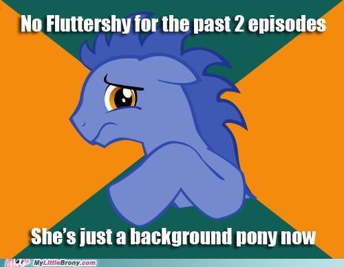 backgroud pony fluttergone fluttershy meme paranoid pony - 5426619648
