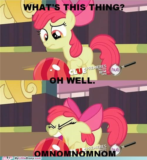 apple bloom bowling ball omnomnomnom ponies the hub logo - 5427193088