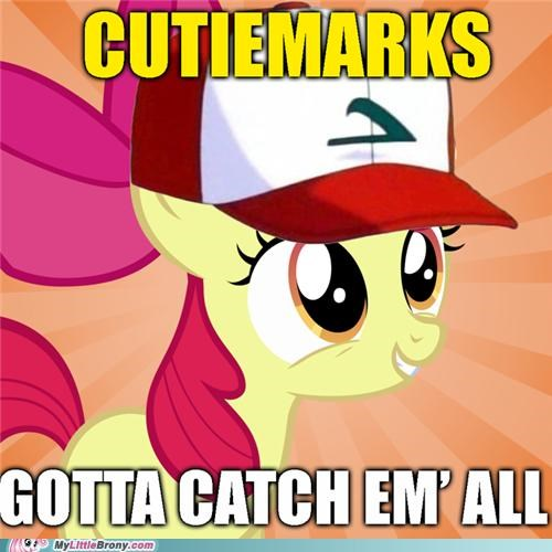 apple bloom,crossover,cutie mark,cutie pox,Pokémon
