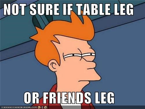 dinner,friend,fry,leg,rub,table