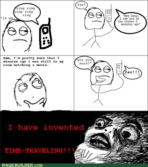 dumb friends Rage Comics time travel - 5427867392