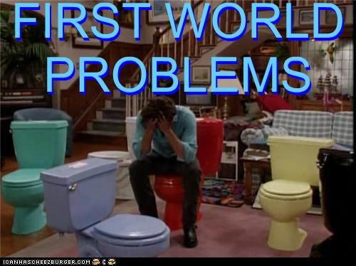 First World Problems full house john stamos problems thats-a-bummer-man toilet toilets - 5428152320