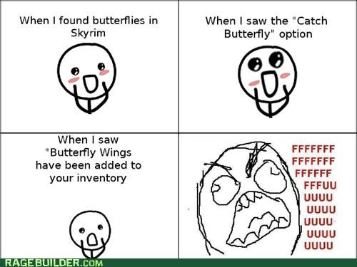 best of week butterflies Rage Comics Skyrim wings - 5428389120