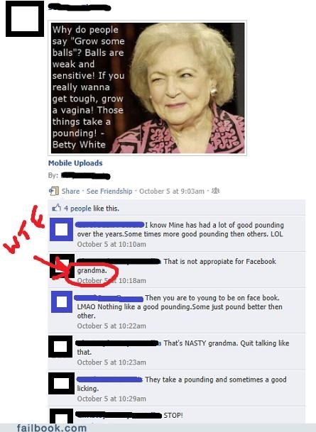 balls,betty white,Featured Fail,grandma,gross,TMI