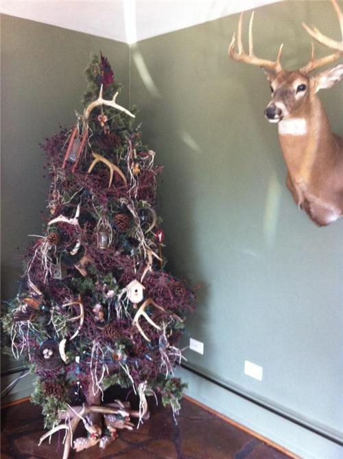antlers,christmas,christmas tree,redneck