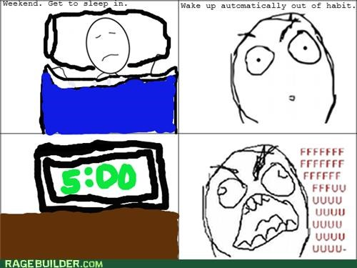 alarm habit Rage Comics sleep in wake up - 5429255424