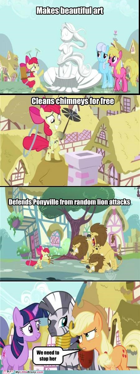 apple bloom applejack comic comics cutie pox shes making us look bad zecora