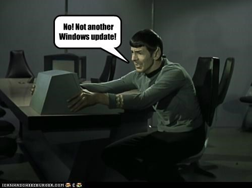 No! Not another Windows update!