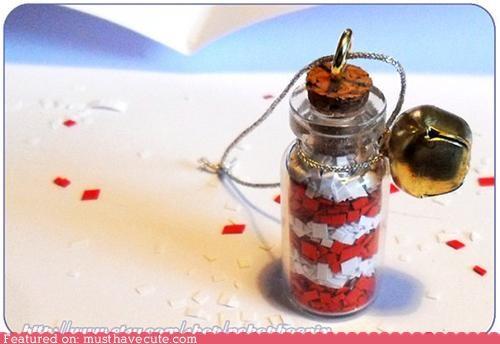 bell bottle charm confetti cork glitter - 5430411008