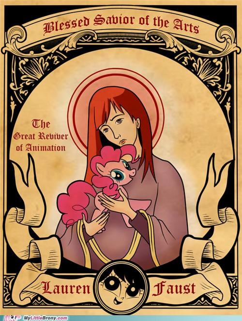 art blessed savior of the arts lauren faust pinkie pie - 5430573568