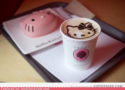 art,best of the week,cake,coffee,epicute,foam,hello kitty,milk,stencil