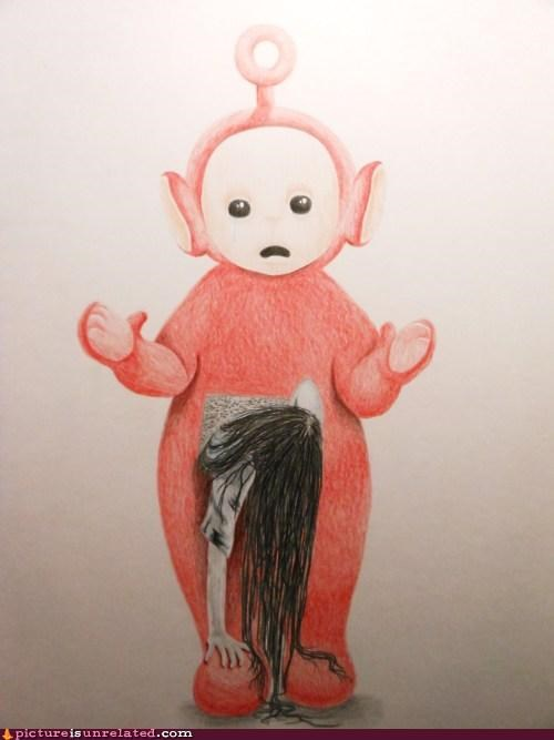 best of week horror film horror movie teletubbies teletubby the ring wtf - 5430651136